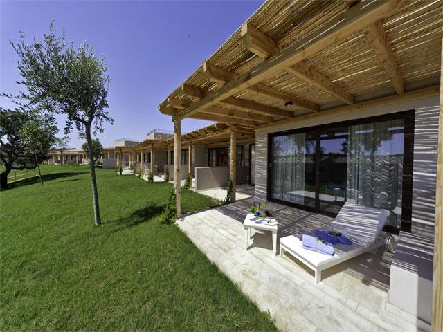 Hotelkamers van het Paradise Resort in Sardinie