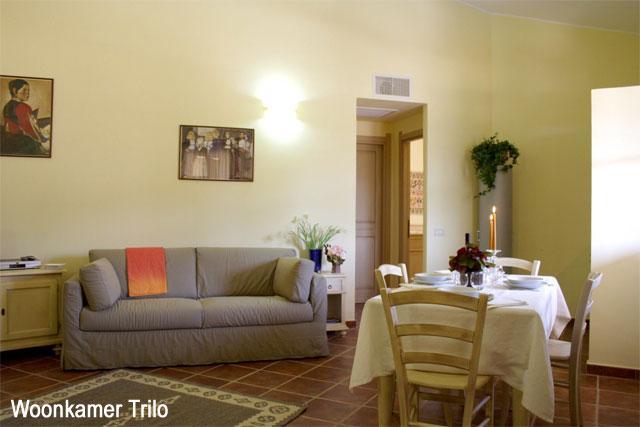 Woonkamer Trilo appartement - Residence Borgo degli Ulivi - Arbatax